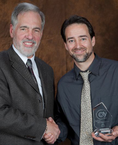 Rocky DiGiacomo receives COTY Award for Contractor of the Year 2012